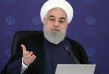 تصویر از روحانی: به رهبری قول میدهم که دولت تا روز آخر بدون توجه به حاشیهسازیها خدمت به مردم را ادامه میدهد/ قرار بود برجام آذر ۹۳ نهایی شود اما تا تیر ۹۴ به تعویق افتاد؛ علتش این بود که اسرائیلی ها و یکی از سران ارتجاع به اروپا رفتند تا توافقات را بر هم بزنند / دولت فعلی امریکا نمیتواند معیار هیچ چیز باشد؛ میخواستند ایران اقدامی انجام دهد؛ بعد بگویند ایران بود که برجام را کنار گذاشته / یک امتحان دیگر پیش رو داریم؛ این آزمون حفظ یکی از دستاوردهای برجام یعنی لغو تحریمهای تسلیحاتی ایران است
