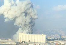 تصویر از وقوع انفجار مهیب در بندر بیروت لبنان با دهها کشته و صدها زخمی
