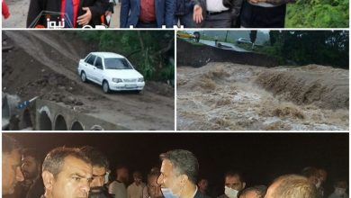 تصویر از فرماندار املش؛ املش (رکورد بیشترین بارش) حدود ۴۰۰ میلیمتر دریک شبانه روز / بازسازی پل موقت رانکوه املش در کمتر از ۱۲ ساعت