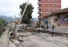 تصویر از رانش زمین در خیابان شهید چمران لنگرود | روایت فرماندار از علت حادثه + تصاویر